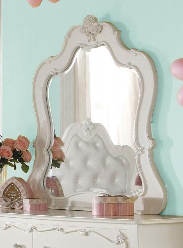 Edalene Mirror - Pearl White