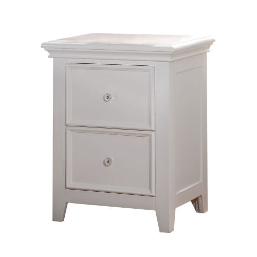 Lacey Nightstand with 2 Drawer - White
