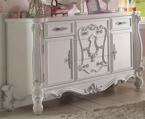 Acme Versailles Dresser - Antique White