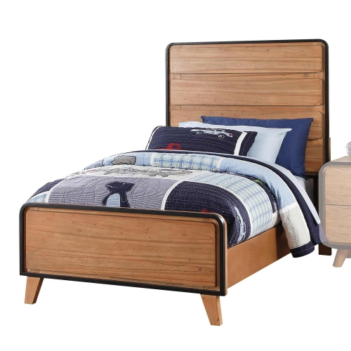 Carla Bed - Oak/Black