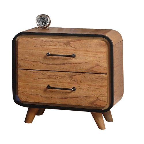 Carla Nightstand - Oak/Black