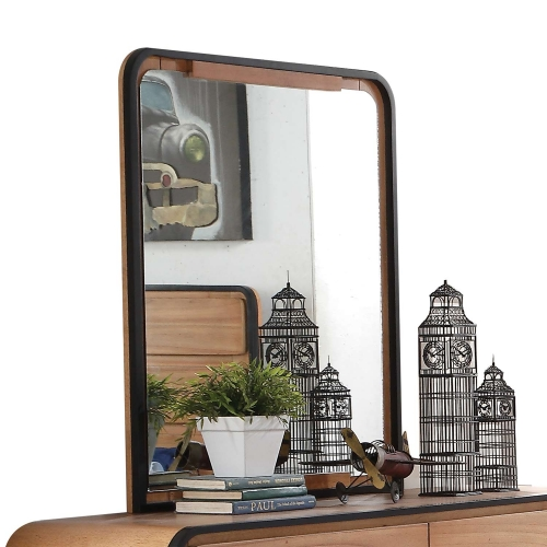 Carla Mirror - Oak/Black