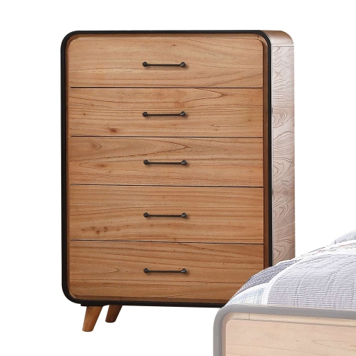 Carla Chest - Oak/Black