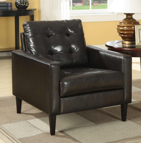 Balin Accent Chair - Espresso Vinyl