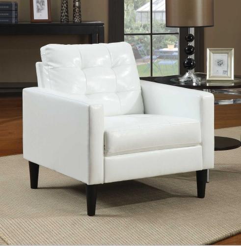 Balin Accent Chair - White Vinyl