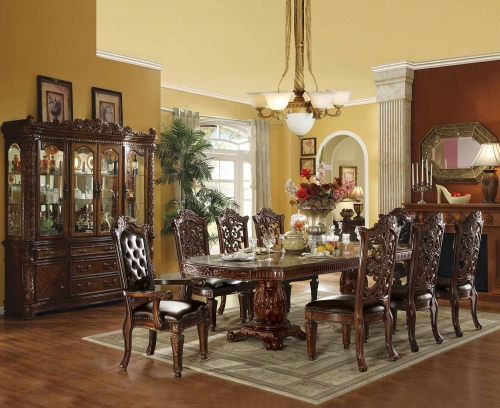 Vendome Dining Set with Double Pedestal (120L Table) - Cherry