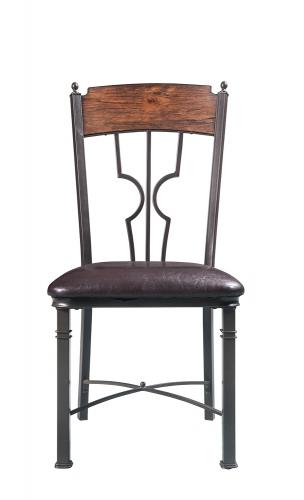 LynLee Side Chair - Espresso Vinyl/Dark Bronze