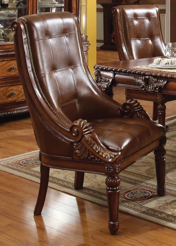 Winfred Side Chair - Vinyl Cherry