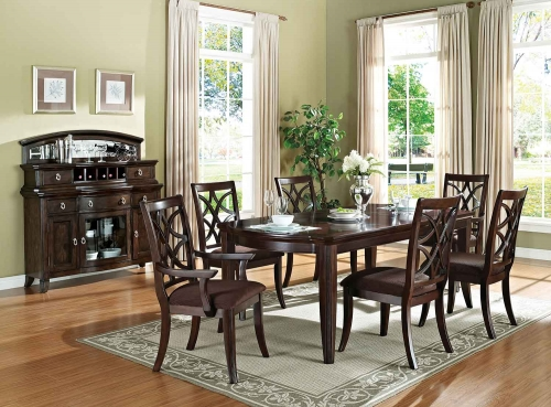 Keenan Dining Set - Dark Walnut