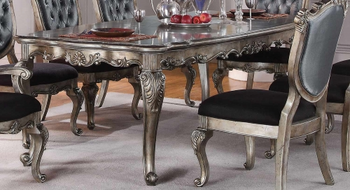 Acme Chantelle Dining Table - Antique Platinum