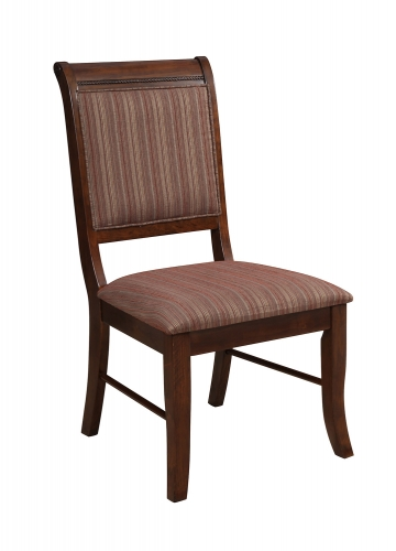 Mahavira Side Chair - Fabric/Espresso