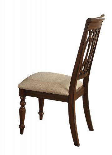 Farrel Side Chair - Sand Linen/Walnut