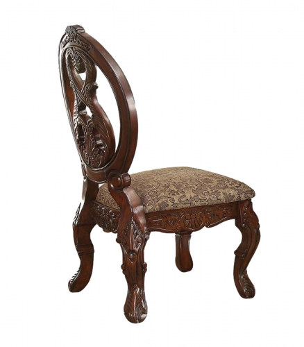 Rovledo Side Chair - Fabric/Cherry