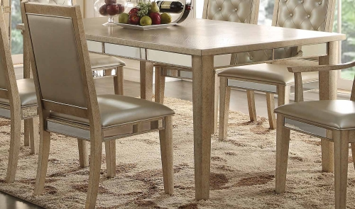 Voeville Dining Table - Antique Gold