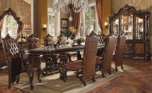 Acme Versailles Dining Set (120L Table) - Cherry Oak