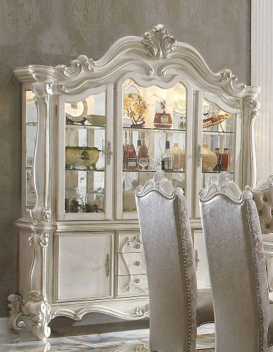 Versailles Hutch and Buffet - Bone White