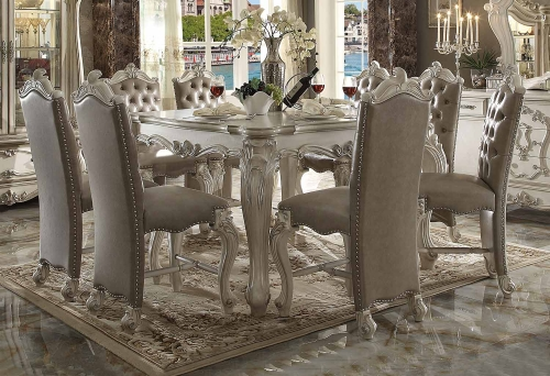 Versailles Counter Height Dining Set - Bone White