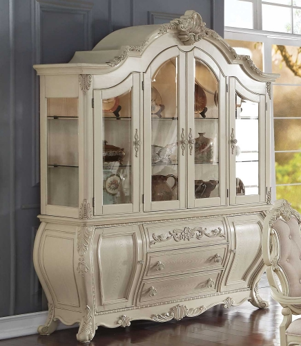 Acme Ragenardus Hutch and Buffet - Antique White
