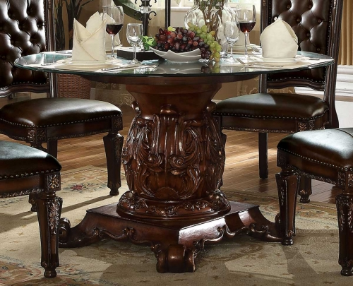 Acme Vendome Dining Table with Pedestal (54Dia) - Cherry