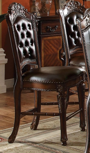 Acme Vendome Counter Height Chair - Vinyl Cherry