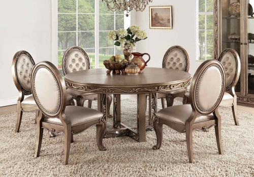 Orianne Round Dining Set - Antique Gold