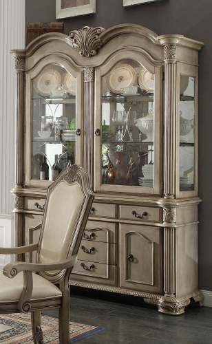 Chateau de Ville Hutch and Buffet - Antique White