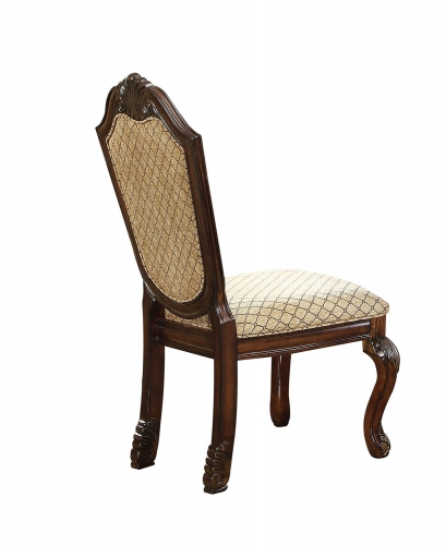 Chateau De Ville Side Chair - Fabric/Espresso