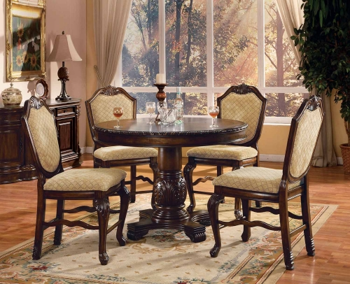 Acme Chateau De Ville Counter Height Dining Set - Espresso