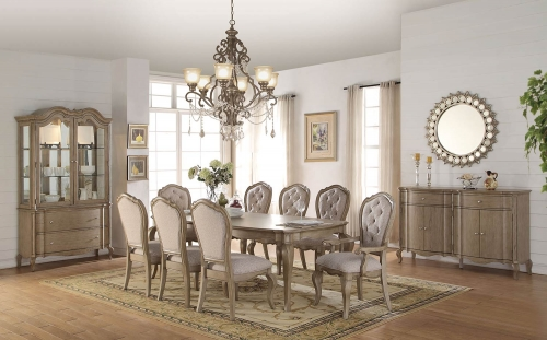 Acme Chelmsford Dining Set - Antique Taupe