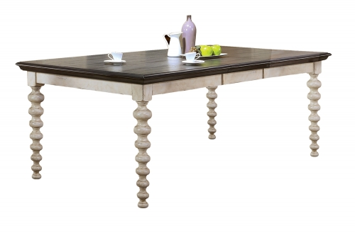 Coyana Dining Table - Antique White/Gray