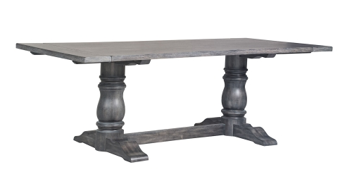 Leventis Dining Table (Trestle) - Weathered Gray