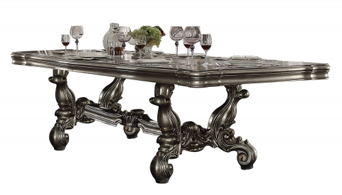 Acme Versailles Dining Table (120L) - Antique Platinum