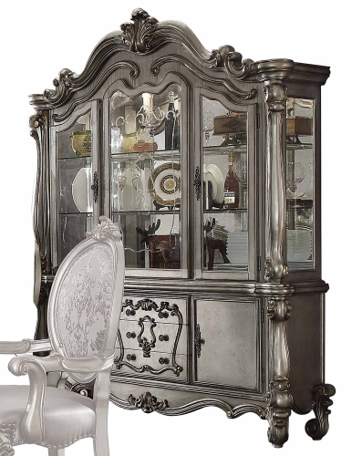 Acme Versailles Hutch and Buffet - Antique Platinum