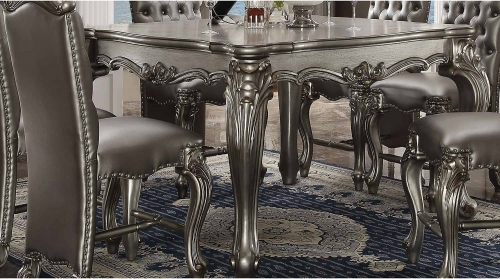 Versailles Counter Height Table - Antique Platinum