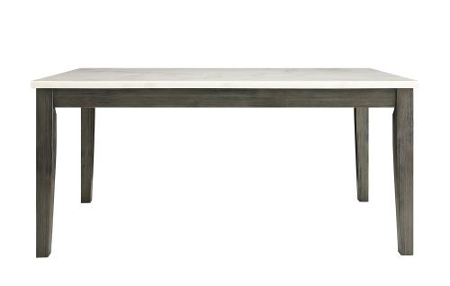 Merel Dining Table - White Marble/Gray Oak