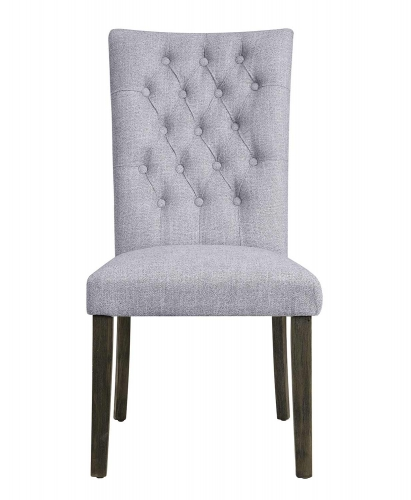 Merel Side Chair - Gray Fabric/Gray Oak