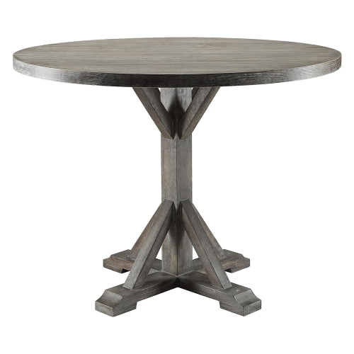 Carmelina Dining Table - Weathered Gray Oak