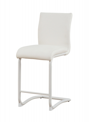 Gordie C Metal Shape Counter Height Chair - White Vinyl