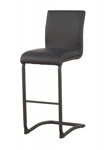 Gordie C Metal Shape Counter Height Chair - Black Vinyl