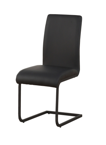 Gordie C Metal Shape Side Chair - Black Vinyl
