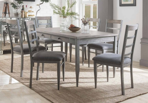 Ornat Dining Set - Gray Oak/Antique Gray