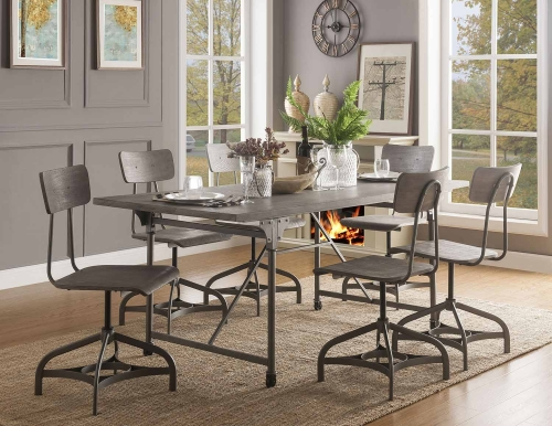 Jonquil Dining Set - Gray Oak/Sandy Gray
