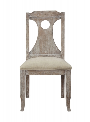 Colette Side Chair - White Fabric/Reclaimed Gray Oak