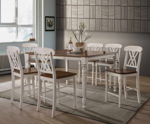 Dylan Counter Height Dining Set - Buttermilk/Oak