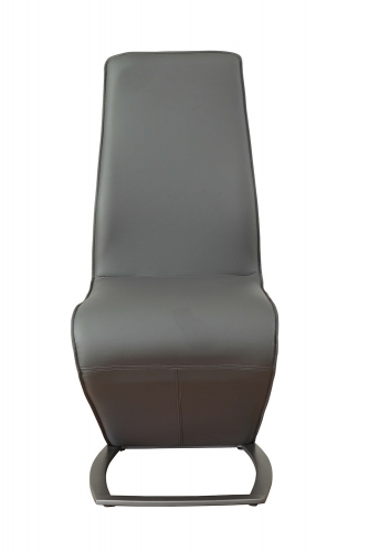 Hassel Side Chair - Gray Vinyl/Gunmetal