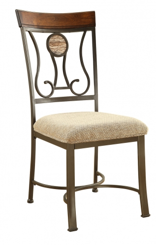 Barrie Side Chair - Faux Marble/Cherry Oak/Dark Bronze