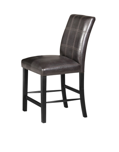 Blythe Counter Height Chair - Brown Vinyl/Black