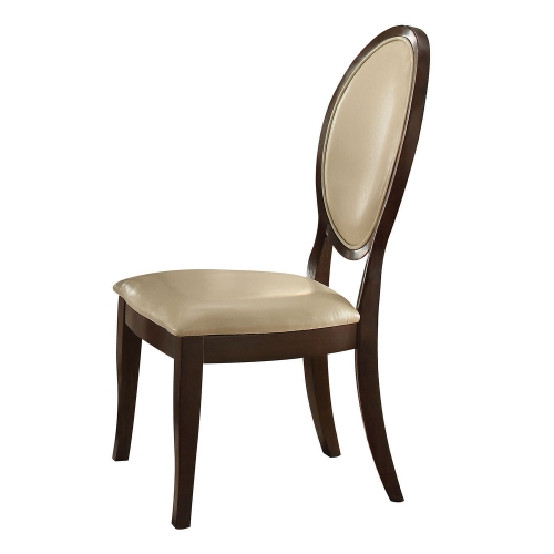 Balint Side Chair - Cream Vinyl/Cherry