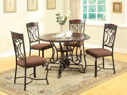 Jaimey Dining Set - Oak/Antique Black