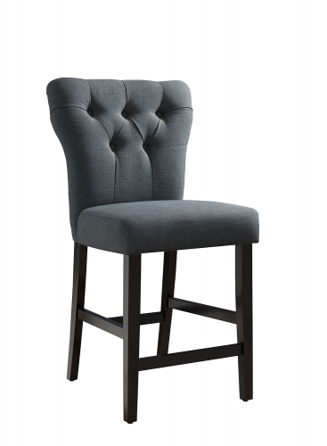 Effie Counter Height Chair - Gray Linen/Walnut